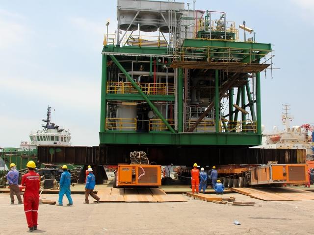 vietsovpetro ha thuy thanh cong hang muc module train a du an cai hoan va mo rong cong suat nen khi lo 09 1